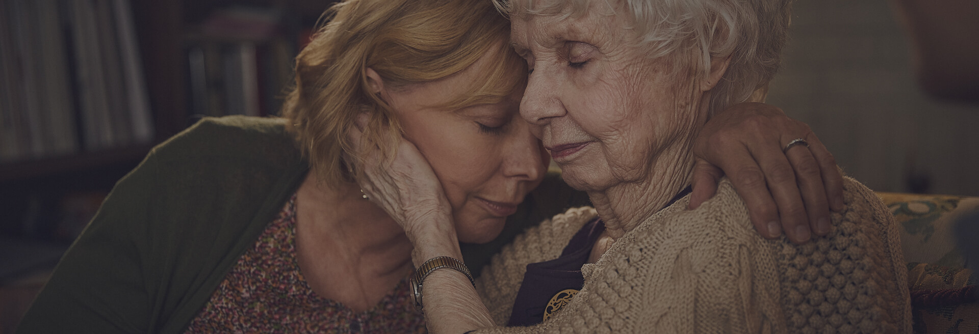 Prospero Health caregiver hugging elderly woman